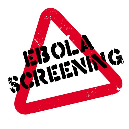 Ebola Screening rubber stamp. Grunge design with dust scratches. Effects can be easily removed for a clean, crisp look. Color is easily changed.