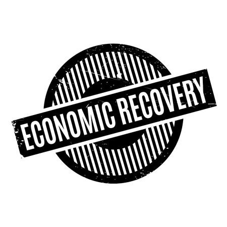 recovery: Economic Recovery rubber stamp. Grunge design with dust scratches. Effects can be easily removed for a clean, crisp look. Color is easily changed.