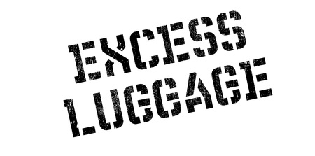 excess: Excess Luggage rubber stamp. Grunge design with dust scratches. Effects can be easily removed for a clean, crisp look. Color is easily changed.