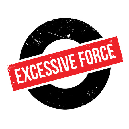 exaggerated: Excessive Force rubber stamp. Grunge design with dust scratches. Effects can be easily removed for a clean, crisp look. Color is easily changed. Illustration