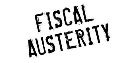 budgetary: Fiscal Austerity rubber stamp. Grunge design with dust scratches. Effects can be easily removed for a clean, crisp look. Color is easily changed.