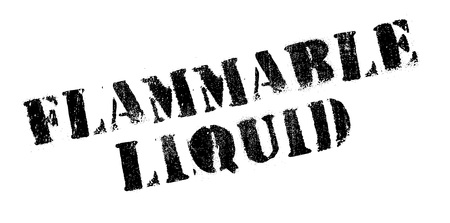 burnable: Flammable Liquid rubber stamp. Grunge design with dust scratches. Effects can be easily removed for a clean, crisp look. Color is easily changed.