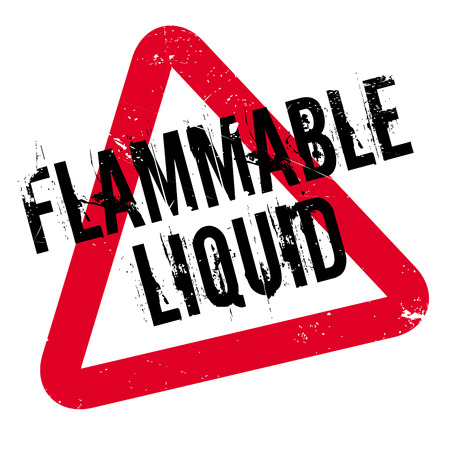 combustible: Flammable Liquid rubber stamp. Grunge design with dust scratches. Effects can be easily removed for a clean, crisp look. Color is easily changed.