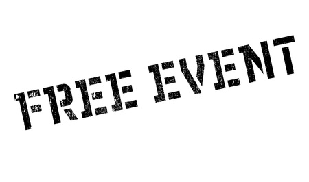 freebie: Free Event rubber stamp. Grunge design with dust scratches. Effects can be easily removed for a clean, crisp look. Color is easily changed. Illustration