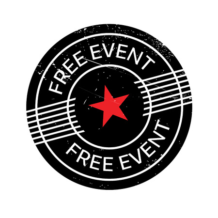 occassion: Free Event rubber stamp. Grunge design with dust scratches. Effects can be easily removed for a clean, crisp look. Color is easily changed. Illustration