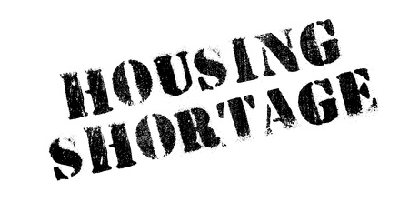 first time buyer: Housing Shortage rubber stamp. Grunge design with dust scratches. Effects can be easily removed for a clean, crisp look. Color is easily changed. Stock Photo
