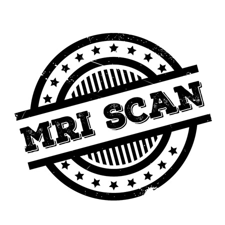 Mri Scan rubber stamp. Grunge design with dust scratches. Effects can be easily removed for a clean, crisp look. Color is easily changed. Illustration
