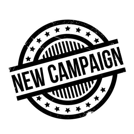 Stempel der neuen Kampagne. Grunge-Design mit Staub Kratzer. Effekte können für ein sauberes, klares Aussehen leicht entfernt werden. Die Farbe kann leicht geändert werden.