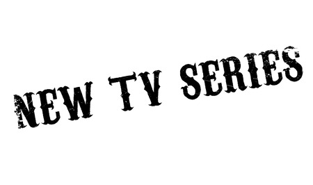 New Tv Series rubber stamp. Grunge design with dust scratches. Effects can be easily removed for a clean, crisp look. Color is easily changed.