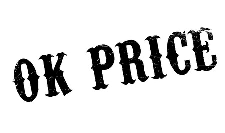 swell: Ok Price rubber stamp. Grunge design with dust scratches. Effects can be easily removed for a clean, crisp look. Color is easily changed.