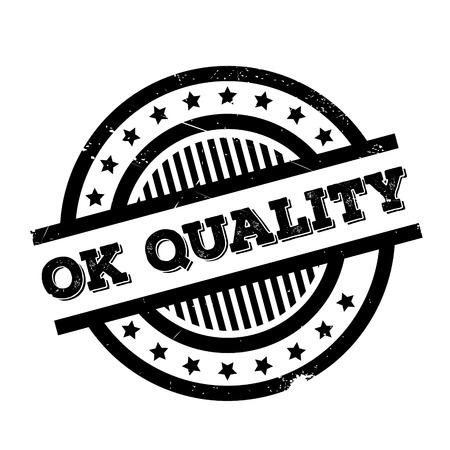 Ok Quality rubber stamp. Grunge design with dust scratches. Effects can be easily removed for a clean, crisp look. Color is easily changed. Illustration