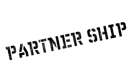collaborator: Partner Ship rubber stamp. Grunge design with dust scratches. Effects can be easily removed for a clean, crisp look. Color is easily changed. Illustration