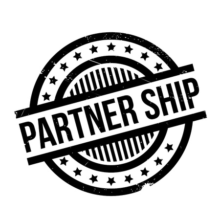 Partner Ship rubber stamp. Grunge design with dust scratches. Effects can be easily removed for a clean, crisp look. Color is easily changed. Illustration