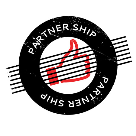 Partner Ship rubber stamp. Grunge design with dust scratches. Effects can be easily removed for a clean, crisp look. Color is easily changed. Ilustrace
