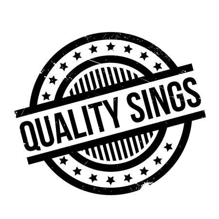 Quality Sings rubber stamp. Grunge design with dust scratches. Effects can be easily removed for a clean, crisp look. Color is easily changed. Vectores