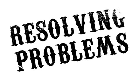 resolving: Resolving Problems rubber stamp. Grunge design with dust scratches. Effects can be easily removed for a clean, crisp look. Color is easily changed. Illustration