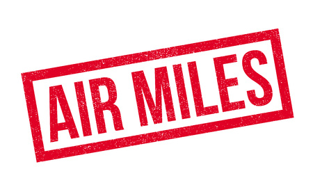 miles: Air Miles rubber stamp. Grunge design with dust scratches. Effects can be easily removed for a clean, crisp look. Color is easily changed. Illustration