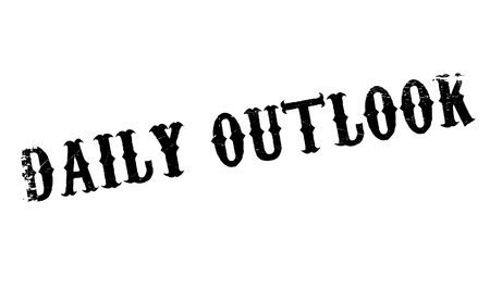 outlook: Daily Outlook rubber stamp. Grunge design with dust scratches. Effects can be easily removed for a clean, crisp look. Color is easily changed.
