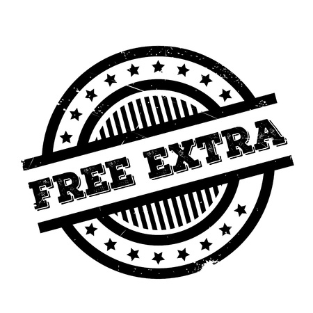 Free Extra rubber stamp. Grunge design with dust scratches. Effects can be easily removed for a clean, crisp look. Color is easily changed. Illustration
