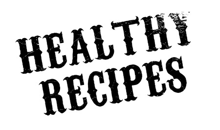 hearty: Healthy Recipes rubber stamp. Grunge design with dust scratches. Effects can be easily removed for a clean, crisp look. Color is easily changed.