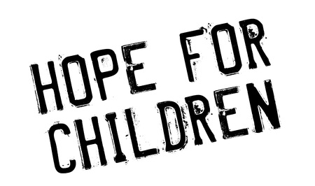 tot: Hope For Children rubber stamp. Grunge design with dust scratches. Effects can be easily removed for a clean, crisp look. Color is easily changed. Illustration