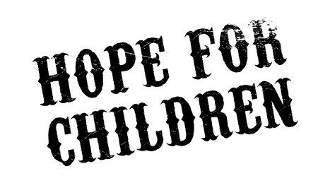 Hope For Children rubber stamp. Grunge design with dust scratches. Effects can be easily removed for a clean, crisp look. Color is easily changed. Illustration