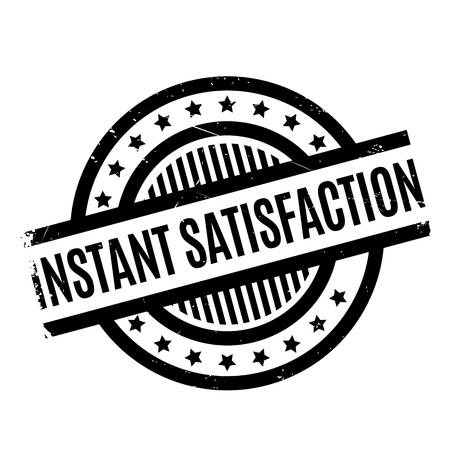 Instant Satisfaction rubber stamp. Grunge design with dust scratches. Effects can be easily removed for a clean, crisp look. Color is easily changed.