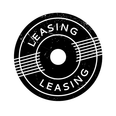 Leasing rubber stamp. Grunge design with dust scratches. Effects can be easily removed for a clean, crisp look. Color is easily changed. Illustration