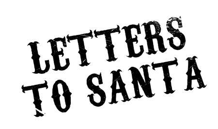 favor: Letters To Santa rubber stamp. Grunge design with dust scratches. Effects can be easily removed for a clean, crisp look. Color is easily changed.