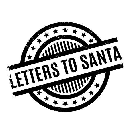 Letters To Santa rubber stamp. Grunge design with dust scratches. Effects can be easily removed for a clean, crisp look. Color is easily changed.