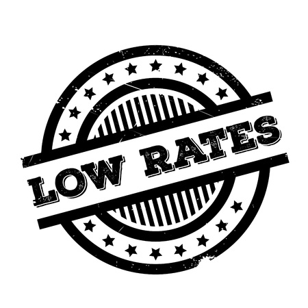 lowering: Low Rates rubber stamp. Grunge design with dust scratches. Effects can be easily removed for a clean, crisp look. Color is easily changed.