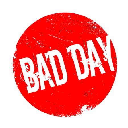 defective: Bad Day rubber stamp. Grunge design with dust scratches. Effects can be easily removed for a clean, crisp look. Color is easily changed.