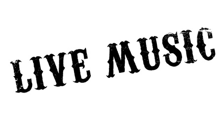 rubber band: Live Music rubber stamp. Grunge design with dust scratches. Effects can be easily removed for a clean, crisp look. Color is easily changed.