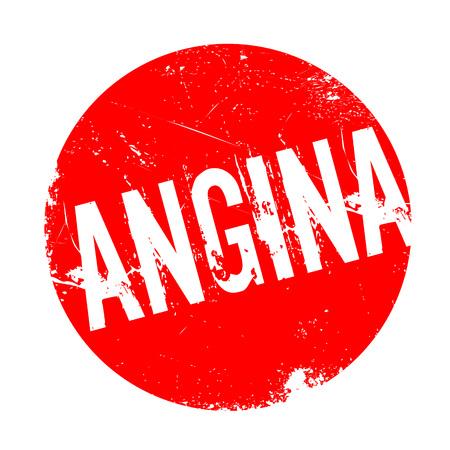 angor: Sello de goma de la angina de pecho. Diseño de Grunge con los rasguños polvo. Los efectos se pueden quitar fácilmente para una apariencia limpia y nítida. En color se cambia fácilmente. Foto de archivo