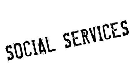 societal: Social Services rubber stamp. Grunge design with dust scratches. Effects can be easily removed for a clean, crisp look. Color is easily changed. Illustration