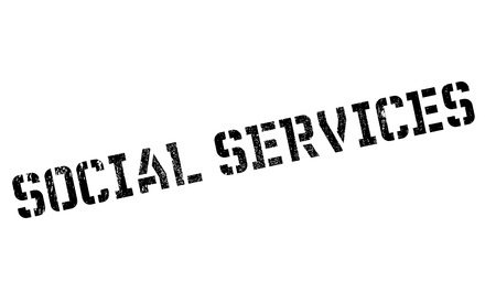 Social Services rubber stamp. Grunge design with dust scratches. Effects can be easily removed for a clean, crisp look. Color is easily changed. Stock Vector - 71101712