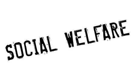 council: Social Welfare rubber stamp. Grunge design with dust scratches. Effects can be easily removed for a clean, crisp look. Color is easily changed. Illustration