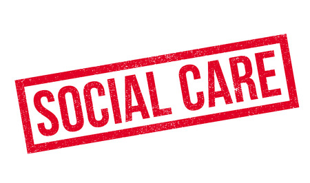 social care: Social Care rubber stamp. Grunge design with dust scratches. Effects can be easily removed for a clean, crisp look. Color is easily changed. Illustration