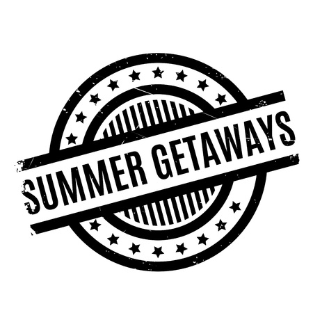 breakout: Summer Getaways rubber stamp. Grunge design with dust scratches. Effects can be easily removed for a clean, crisp look. Color is easily changed.