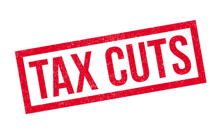 credit crunch: Tax Cuts rubber stamp. Grunge design with dust scratches. Effects can be easily removed for a clean, crisp look. Color is easily changed. Illustration