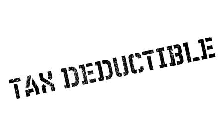indirect: Tax Deductible rubber stamp. Grunge design with dust scratches. Effects can be easily removed for a clean, crisp look. Color is easily changed.