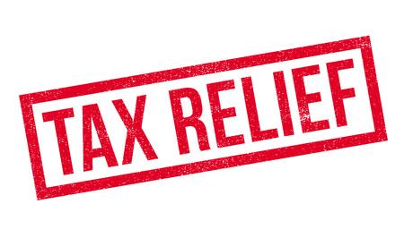 Tax Relief rubber stamp. Grunge ontwerp met stof krassen. Effecten kunnen gemakkelijk worden verwijderd voor een schone, frisse look. Kleur is gemakkelijk veranderd. Vector Illustratie
