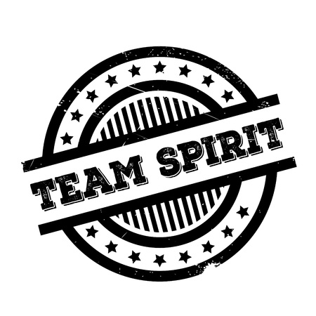 camaraderie: Team Spirit rubber stamp. Grunge design with dust scratches. Effects can be easily removed for a clean, crisp look. Color is easily changed. Illustration