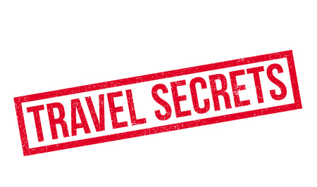 Travel Secrets rubber stamp. Grunge design with dust scratches. Effects can be easily removed for a clean, crisp look. Color is easily changed.