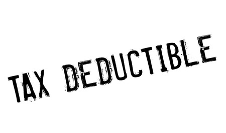 Tax Deductible rubber stamp. Grunge design with dust scratches. Effects can be easily removed for a clean, crisp look. Color is easily changed.