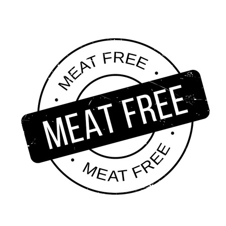 aliment: Meat Free rubber stamp. Grunge design with dust scratches. Effects can be easily removed for a clean, crisp look. Color is easily changed.