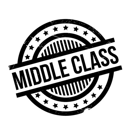 tier: Middle Class rubber stamp. Grunge design with dust scratches. Effects can be easily removed for a clean, crisp look. Color is easily changed.