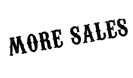 consuming: More Sales rubber stamp. Grunge design with dust scratches. Effects can be easily removed for a clean, crisp look. Color is easily changed.