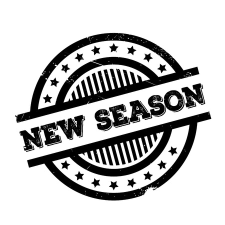 recent: New Season rubber stamp. Grunge design with dust scratches. Effects can be easily removed for a clean, crisp look. Color is easily changed.