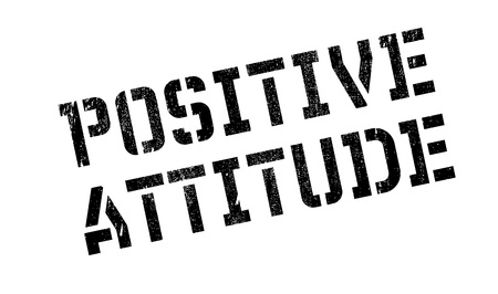 conclusive: Positive Attitude rubber stamp. Grunge design with dust scratches. Effects can be easily removed for a clean, crisp look. Color is easily changed.